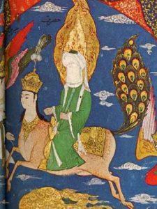 Mahoma y su corcel Al-Bourak