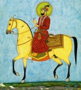 Mahoma montado su caballo Lazlos .