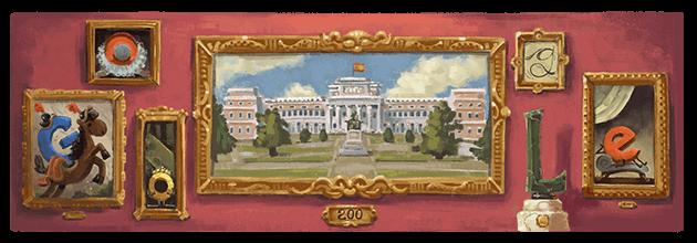 Imagen que dedico google al Museo del Prado en su bicentenario