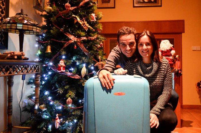 Las maletas para los viajeros luego del cañonazo
