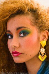 Maquillaje de moda en los 80