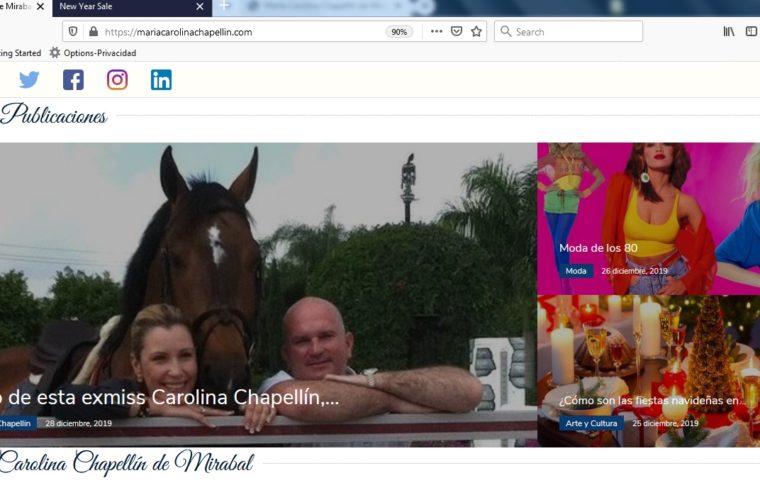 Portal web de Carolina Chapellín