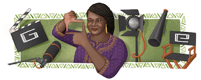 Doodle de google en homenaja a la gran cineasta y productora Amaka Igwe