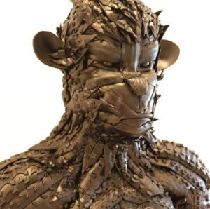 esculturas con neumáticos reciclados en España elaboradas por el gran artista venezolano Jhonathan Delgado Álvarez